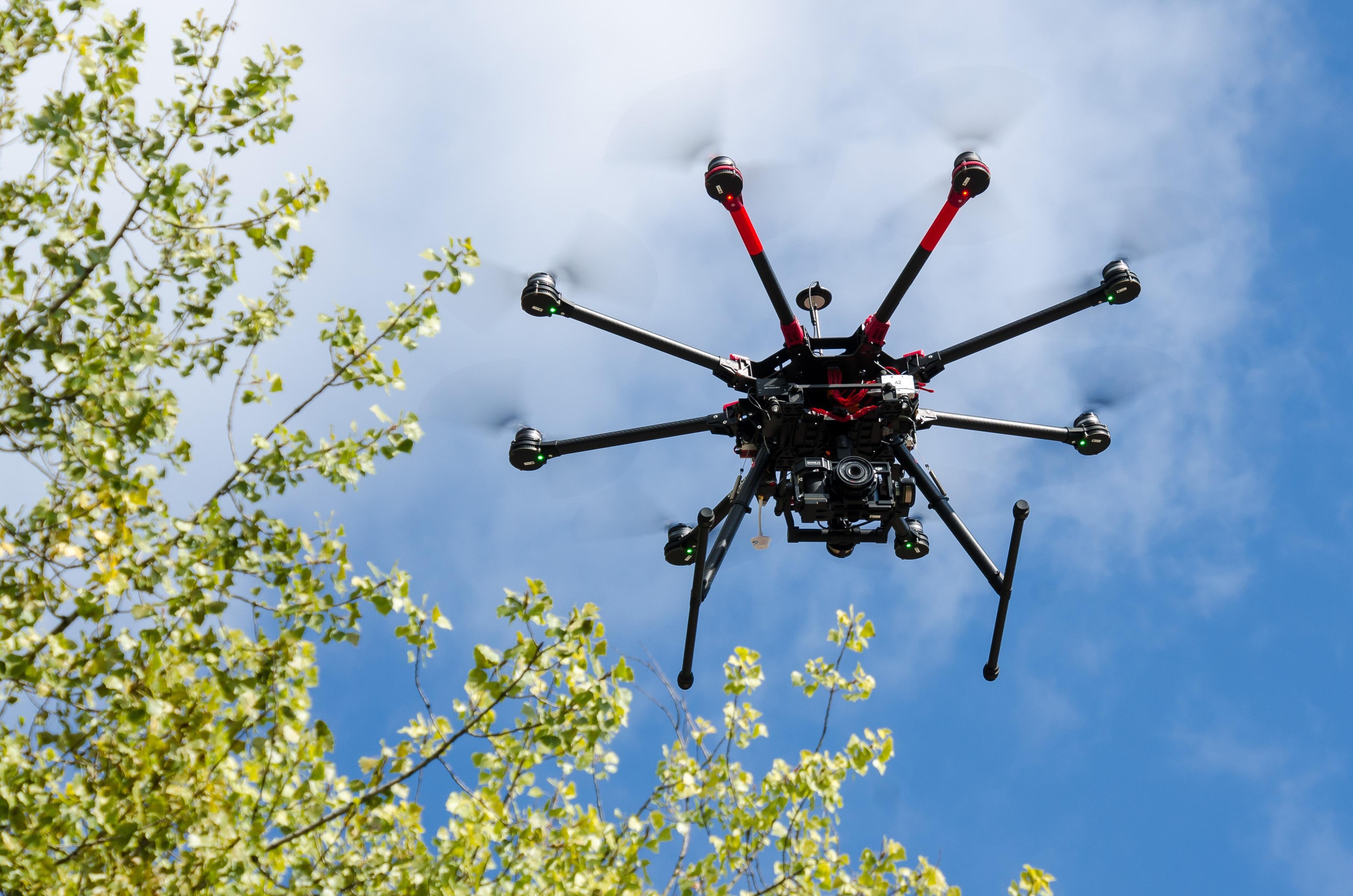 Octocoper drone airborne