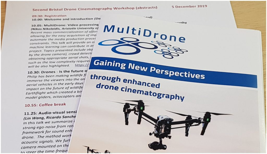 Image of the Workshop Program and the MultiDrone Flyer
